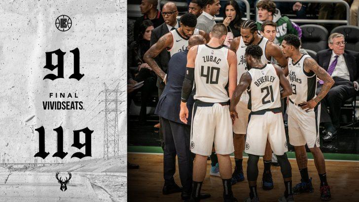 Milwaukee Bucks 119-91 Los Angeles Clippers