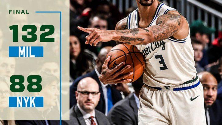 Milwaukee Bucks 132-88 New York Knicks